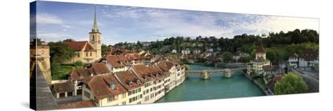 Switzerland, Bern, Old Town and Aare River-Michele Falzone-Stretched Canvas Print