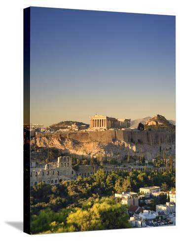 Greece, Attica, Athens, the Acropolis and Parthenon-Michele Falzone-Stretched Canvas Print