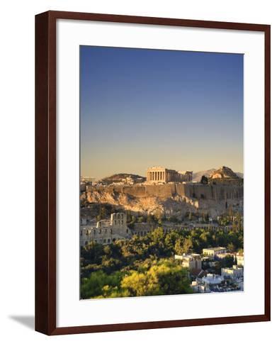 Greece, Attica, Athens, the Acropolis and Parthenon-Michele Falzone-Framed Art Print