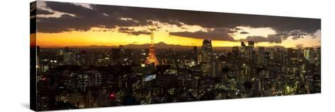 Skyline from Shiodome, Tokyo, Japan-Jon Arnold-Stretched Canvas Print