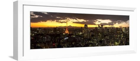 Skyline from Shiodome, Tokyo, Japan-Jon Arnold-Framed Art Print