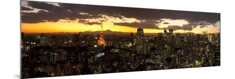 Skyline from Shiodome, Tokyo, Japan-Jon Arnold-Mounted Photographic Print