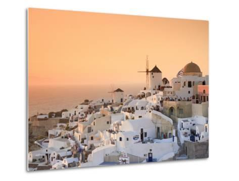 Greece, Cyclades, Santorini, Oia Town and Santorini Caldera-Michele Falzone-Metal Print