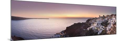 Greece, Cyclades, Santorini, Panoramic View Oia Town and Santorini Caldera-Michele Falzone-Mounted Photographic Print