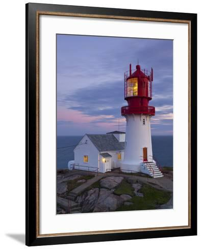 The Idyllic Lindesnes Fyr Lighthouse, Lindesnes, Norway-Doug Pearson-Framed Art Print