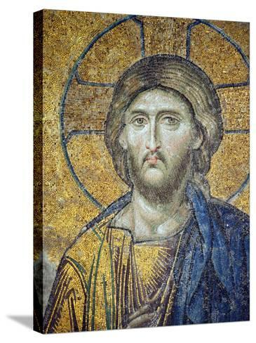Turkey, Istanbul, Hagia Sophia; Detail from the Deesis Mosaic-Nick Laing-Stretched Canvas Print