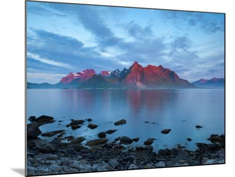 Flakstad Mountain Range Illuminated by Midnight Sun, Lofoten Islands, Norway-Doug Pearson-Mounted Photographic Print