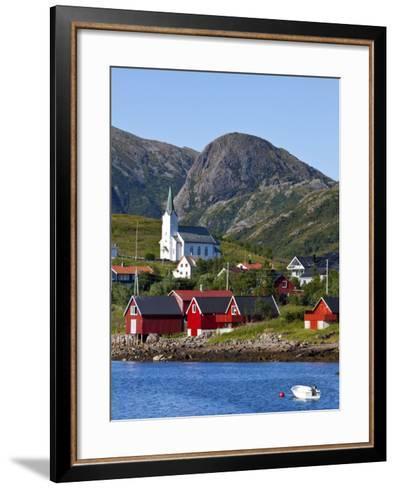 The Harbour Town of Malnes, Vesteralen, Nordland, Norway-Doug Pearson-Framed Art Print