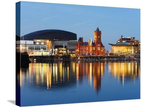Uk, Wales, Cardiff, Cardiff Bay, Millennium Centre, Pier Head, Welsh Assembly Building-Christian Kober-Stretched Canvas Print