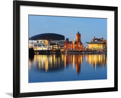 Uk, Wales, Cardiff, Cardiff Bay, Millennium Centre, Pier Head, Welsh Assembly Building-Christian Kober-Framed Art Print