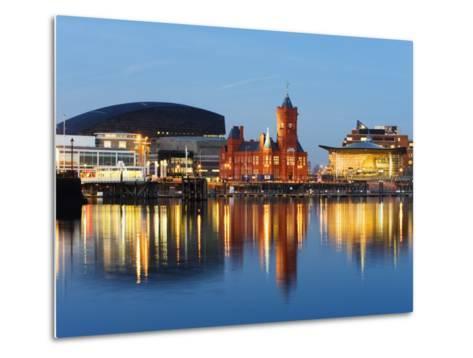 Uk, Wales, Cardiff, Cardiff Bay, Millennium Centre, Pier Head, Welsh Assembly Building-Christian Kober-Metal Print