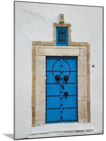 Tunisia, Sidi Bou Said, Building Detail-Walter Bibikow-Mounted Photographic Print