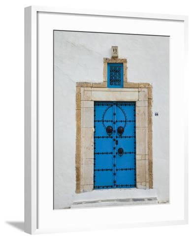 Tunisia, Sidi Bou Said, Building Detail-Walter Bibikow-Framed Art Print