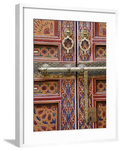 Door in the Old Medina of Fes, Morocco-Julian Love-Framed Art Print