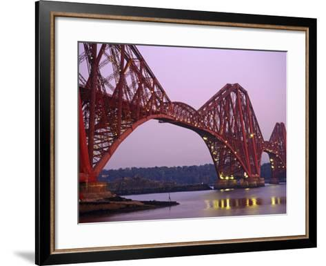 The Forth Rail Bridge, Firth of Forth, Edinburgh, Scotland;-Paul Harris-Framed Art Print