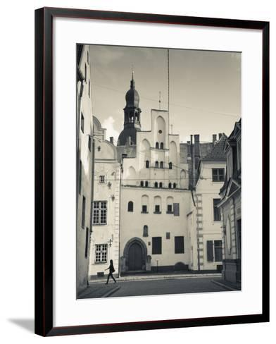 Latvia, Riga, Old Riga, Three Brothers Houses, Oldest in City-Walter Bibikow-Framed Art Print