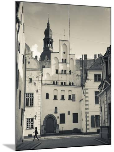 Latvia, Riga, Old Riga, Three Brothers Houses, Oldest in City-Walter Bibikow-Mounted Photographic Print