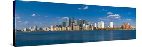 Uk, England, London, Canary Wharf and River Thames-Alan Copson-Stretched Canvas Print