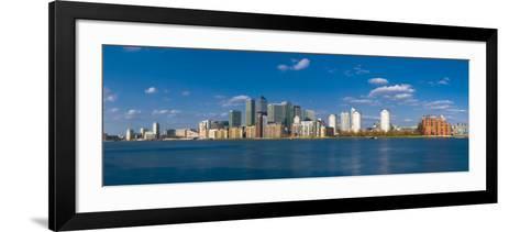Uk, England, London, Canary Wharf and River Thames-Alan Copson-Framed Art Print