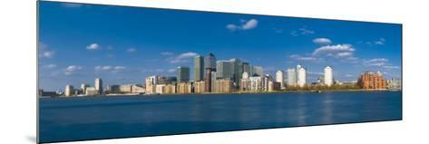 Uk, England, London, Canary Wharf and River Thames-Alan Copson-Mounted Photographic Print