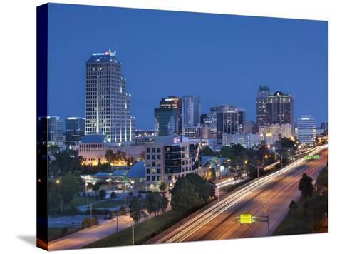 Usa, Florida, Orlando, Downtown Skyline and Interstate 4-John Coletti-Stretched Canvas Print