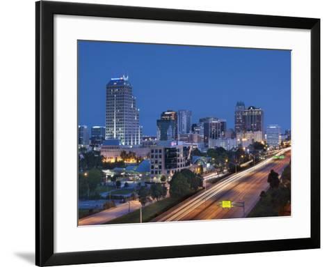 Usa, Florida, Orlando, Downtown Skyline and Interstate 4-John Coletti-Framed Art Print