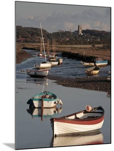 England, Norfolk, Morston Quay; Rowing Boats and Sailing Dinghies at Low Tide-Will Gray-Mounted Photographic Print