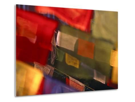 Prayer Flags Festoon the Stupa at Boudinath, a Centre of Tibetan Buddhism, Kathmandu, Nepal-Paul Harris-Metal Print