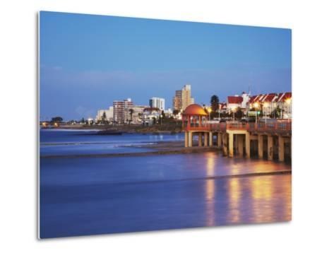 Summerstrand Beachfront at Dusk, Port Elizabeth, Eastern Cape, South Africa-Ian Trower-Metal Print