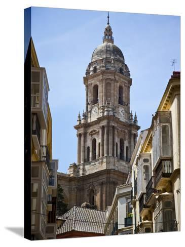 Tower of the Cathedral of Malaga, Andalusia, Spain-Carlos S?nchez Pereyra-Stretched Canvas Print
