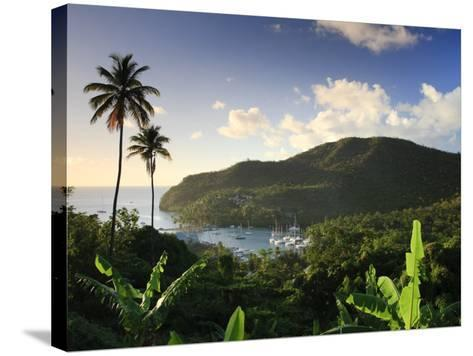 Caribbean, St Lucia, Marigot Bay and Harbour-Michele Falzone-Stretched Canvas Print