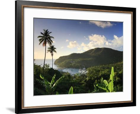 Caribbean, St Lucia, Marigot Bay and Harbour-Michele Falzone-Framed Art Print