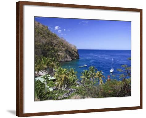 Caribbean, St Lucia, Anse Chastanet Beach-Michele Falzone-Framed Art Print