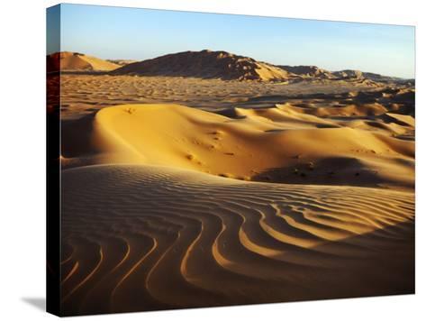 Oman, Empty Quarter; the Martian-Like Landscape of the Empty Quarter Dunes;-Niels Van Gijn-Stretched Canvas Print
