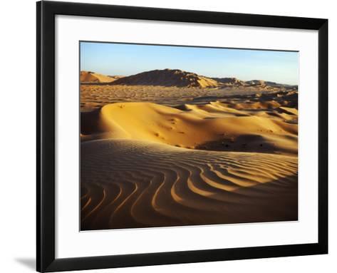 Oman, Empty Quarter; the Martian-Like Landscape of the Empty Quarter Dunes;-Niels Van Gijn-Framed Art Print