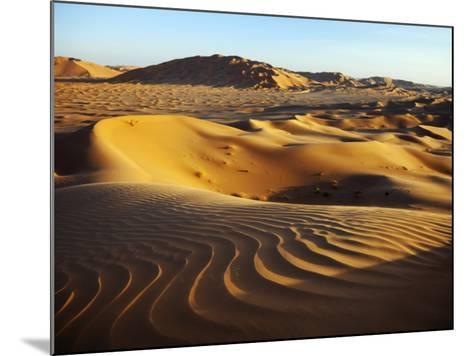 Oman, Empty Quarter; the Martian-Like Landscape of the Empty Quarter Dunes;-Niels Van Gijn-Mounted Photographic Print