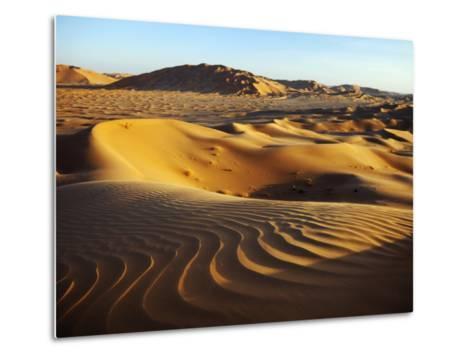 Oman, Empty Quarter; the Martian-Like Landscape of the Empty Quarter Dunes;-Niels Van Gijn-Metal Print