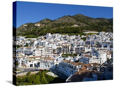 View of Mijas, White Town in Costa Del Sol, Andalusia, Spain-Carlos S?nchez Pereyra-Stretched Canvas Print