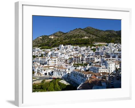 View of Mijas, White Town in Costa Del Sol, Andalusia, Spain-Carlos S?nchez Pereyra-Framed Art Print