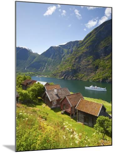 Elevated View over Otternes Bygdetun, Aurlands Fjord, Sogn Og Fjordane, Norway-Doug Pearson-Mounted Photographic Print