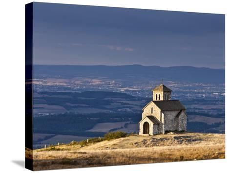 France, Tarn, Dourgne; the Tiny Chapelle De St Ferreol on a Crest Above the Village of Dourgne-Katie Garrod-Stretched Canvas Print