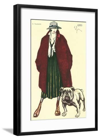 Early Grunge Look with English Bulldog--Framed Art Print
