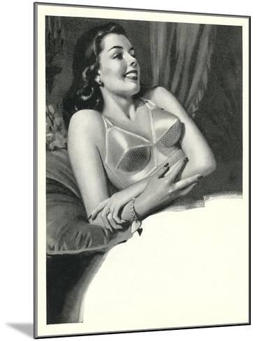 Happy Lady with Brassiere--Mounted Art Print