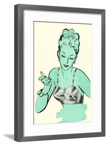 Brassiere Advertisement--Framed Art Print