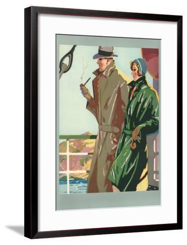 Couple on Ocean Liner--Framed Art Print