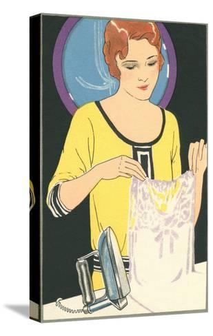 Lady Ironing Camisole--Stretched Canvas Print