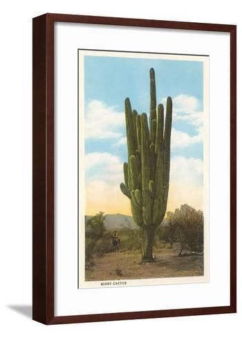 World's Largest Saguaro Cactus--Framed Art Print