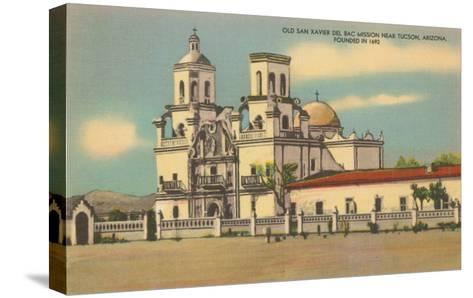 San Xavier del Bac Mission, Tucson, Arizona--Stretched Canvas Print