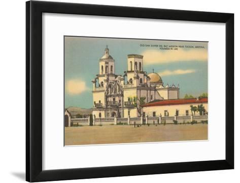 San Xavier del Bac Mission, Tucson, Arizona--Framed Art Print