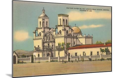 San Xavier del Bac Mission, Tucson, Arizona--Mounted Art Print